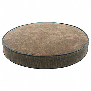 Round Padded Stool Cushion, Brown