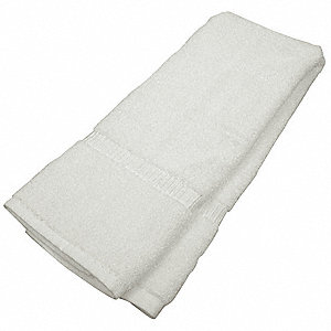 "50"" x 27"" 100% Cotton Bath Towel, White&#x3b; PK12"