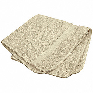 "13"" x 13"" 100% Cotton Wash Cloth, Beige&#x3b; PK12"