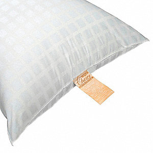 "30"" x 21"" Queen Micro Denier Fiber Fill Pillow, White"