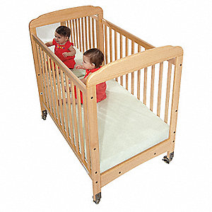 Compact Crib, Natural, 3 In. Mattress