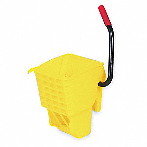 Side Press Mop Wringer, Yellow, Polypropylene, 12 to 32 oz. Mop Capacity