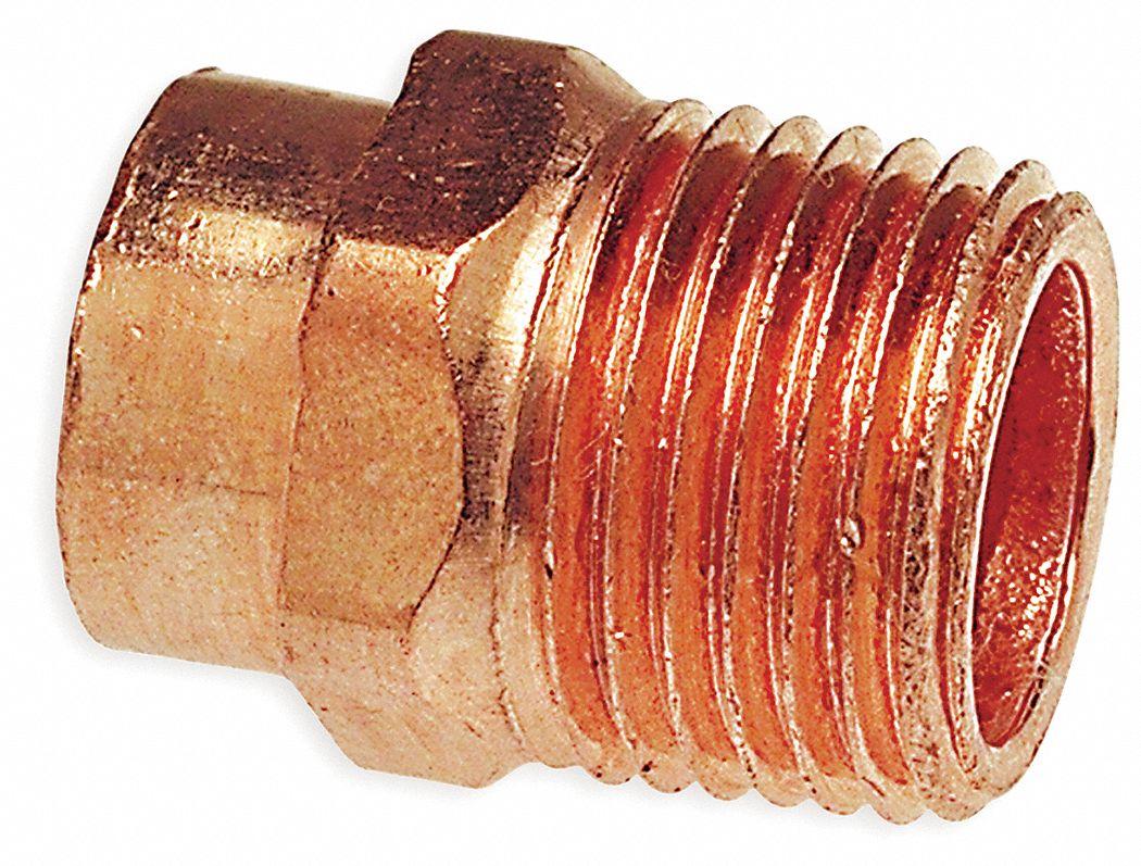 Nibco Adapter Wrot Copper 1 2 In C X Mnpt 1vlv5 604 1 2 Grainger