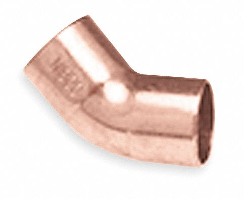 Nibco 45 Elbow Wrot Copper 1 2 C X C 5p038 U606 1 2 Grainger