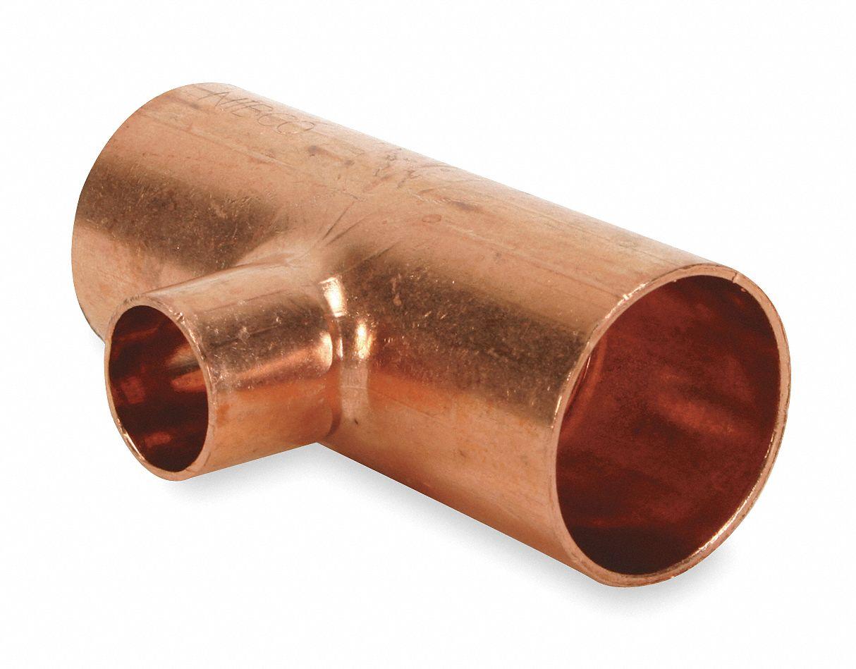 Nibco Reducing Tee Wrot Copper 2 In X 2 In X 3 4 In C X C X C 5p118 611 2x2x3 4 Grainger