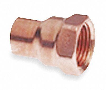 Nibco Reducing Adapter Wrot Copper 3 4 In C X Fnpt 5p017 C603 3 4x1 2 Grainger