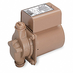 1/40 HP Low Lead Bronze In Line, Wet Rotor Hot Water Circulator Pump