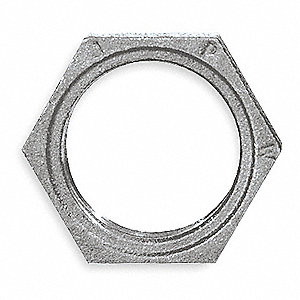 HEX LOCKNUT,3/8 IN,NPT,MALLEABLE IR