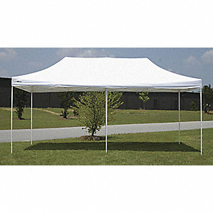 "White Instant Shelter, 15 ft. Length, 10 ft. Width, Adjusts to 10 ft. 3"" Center Height"