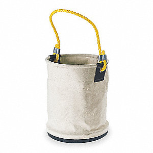 Bucket Bag, White Canvas