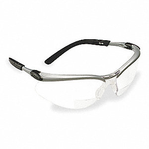 Bifocal Safety Read Glasses,+2.50,Clear