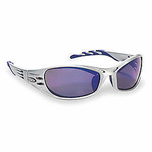 Fuel  Scratch-Resistant Safety Glasses, Blue Mirror Lens Color