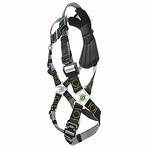 Full Body Harness,Unversal,400lb,Blk/Gry