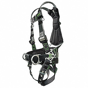 Revolution ® Full Body Harness with 400 lb. Weight Capacity, Gray, L/XL