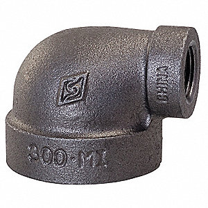 "Reducing Elbow, 90°, FNPT, 1-1/4"" x 1/2"" Pipe Size (Fittings)"