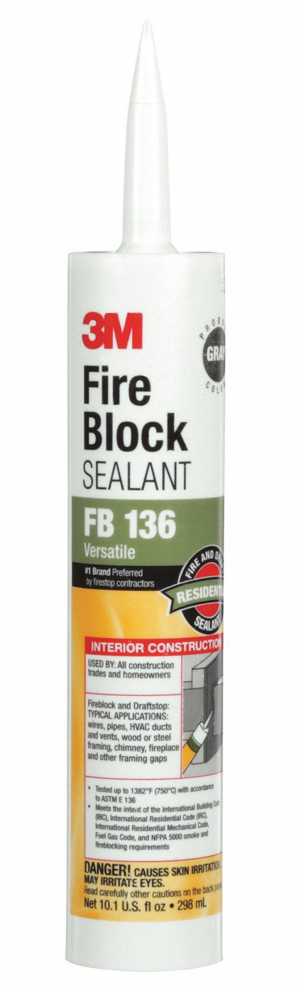 3m fire barrier sealant 10 1 oz gray 5pb33 fb 136 grainger