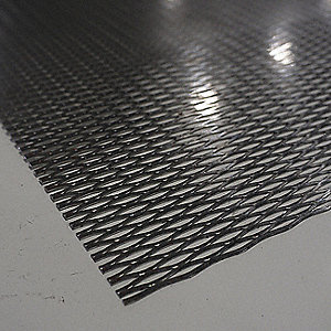 Expanded Sheet,Rsd,Carbon,4x4 ft,1/4-#20
