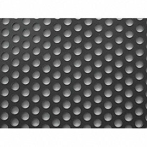 20 Gauge Perforated Sheet, Round Hole Shape, Staggered Hole Pattern