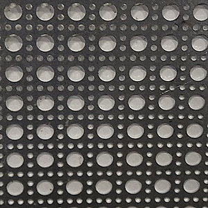 20 Gauge Perforated Sheet, Round Cane Hole Shape, Decorative Hole Pattern