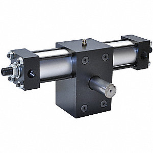 "Aluminum Single Rack Rotary Actuator; 2-1/2"" Bore"