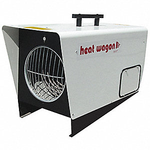 "30"" x 14"" x 20"" Fan Forced Non-Oscillating Electric Salamander Heater, White"