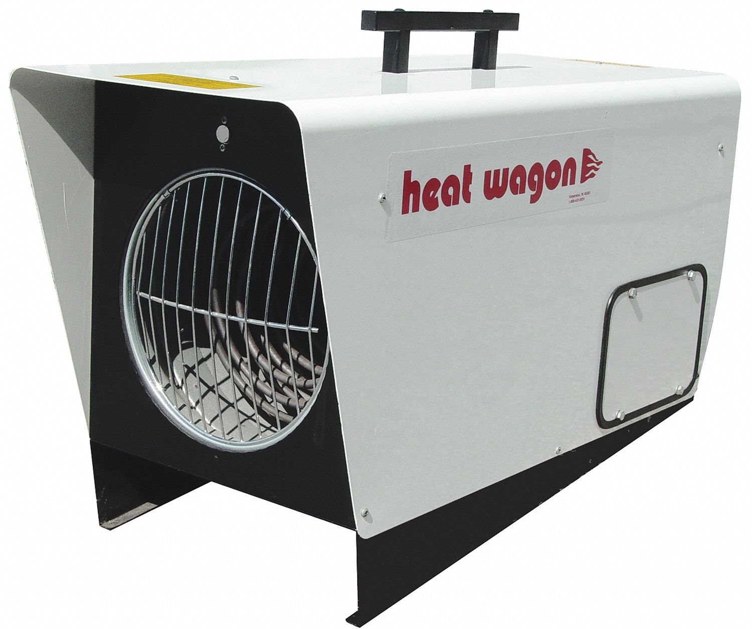Portable Electric Salamander Heater,  12kW/18kW,  208/240V AC, 3-phase,  Hardwired