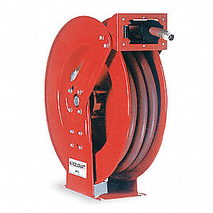 "1/2"", 100 ft. Spring Return Hose Reel, 300 psi Max. Pressure"