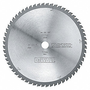 "12"" Carbide Crosscutting Circular Saw Blade, Number of Teeth: 60"