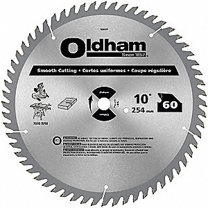 "10"" Carbide Finishing Circular Saw Blade, Number of Teeth: 60"