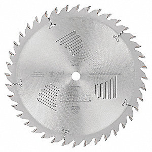 "10"" Steel Combination Circular Saw Blade, Number of Teeth: 40"