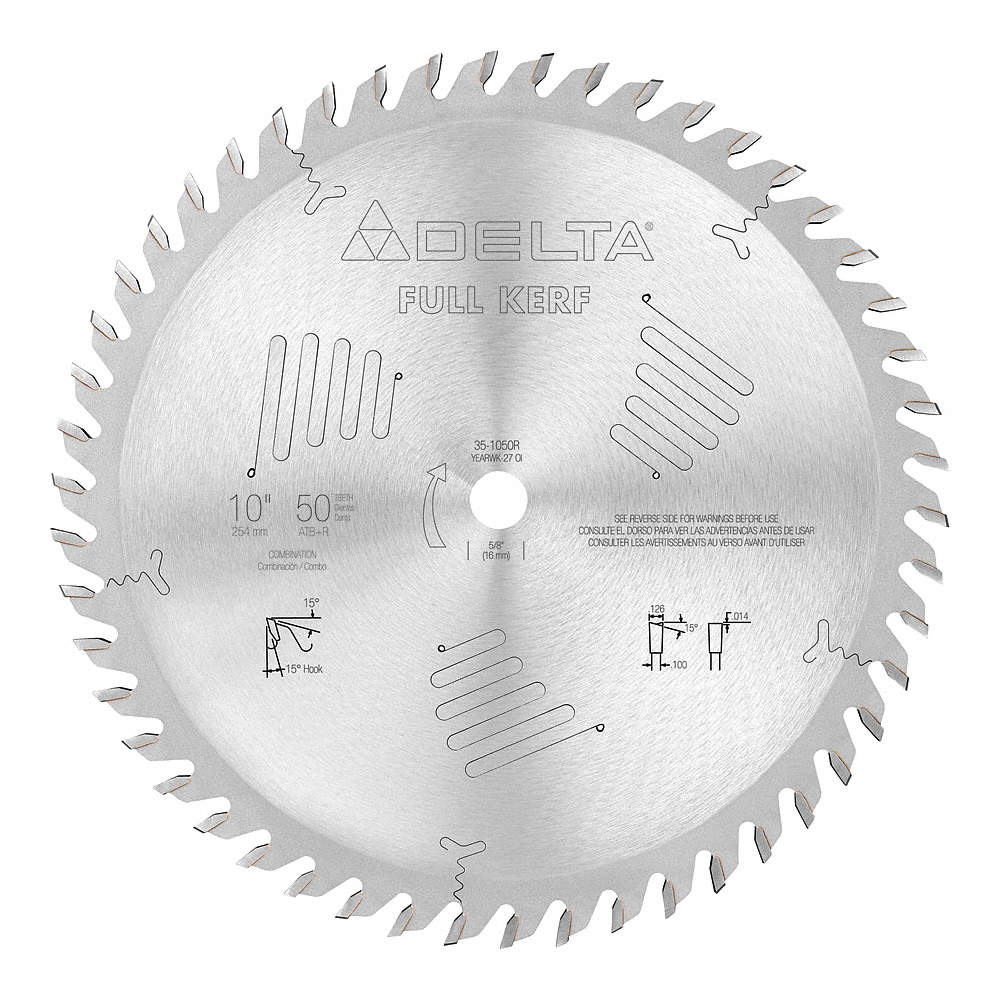 Delta circular saw blade10 in50 teeth 5pgd435 1050r grainger zoom outreset put photo at full zoom then double click greentooth Choice Image