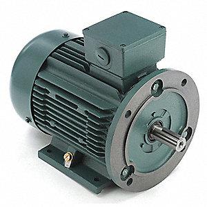 Leeson premium efficiency metric motor 230 460v 5pgj7 for Single phase motor efficiency
