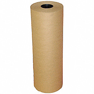 "Kraft Paper, 50 lb. Basis Weight, 720 ft. Length, 18"" Width, Natural Color"