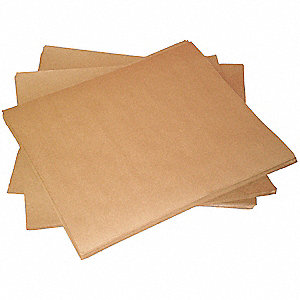 "Kraft Paper, 50 lb. Basis Weight, 24"" Length, 36"" Width, Natural Color"
