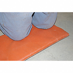 "Silicone Coated Fiberglass with Insulation Welding Pad, Height: 6 ft., Width: 24"", Red"