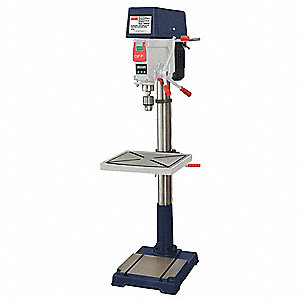 "1-1/2 Motor HP Floor Drill Press, Belt Drive Type, 20"" Swing, 120/240 Voltage"