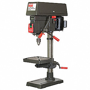 "1/3 Motor HP Bench Drill Press, 13-1/4"" Swing, 120 Voltage"