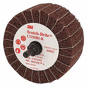Scotch Brite Coated Aluminum Oxide Mounted Flap Wheel