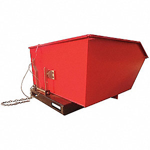 Low Profile Hopper,4000 Lb,1 Cu Yd