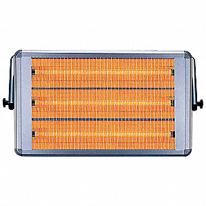 Electric Mid Wave Infrared Heater, Indoor, Wall/Ceiling, Voltage 230, Watts 6900