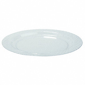"7 1/2"" Round Plate, Clear&#x3b; PK240"