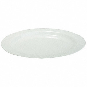 "6"" Round Disposable Plate, White&#x3b; PK240"