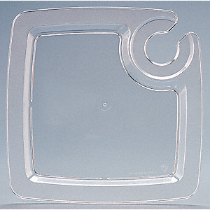 "9"" Square Party Pal Plate, Clear&#x3b; PK160"