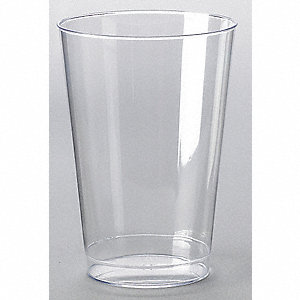 Disposable Tumbler,12 Oz,Clear,PK 500