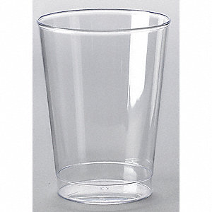 Disposable Tumbler,10 Oz,Clear,PK 500