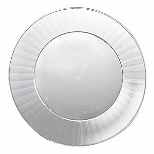 "6"" Round Plate, Clear&#x3b; PK160"