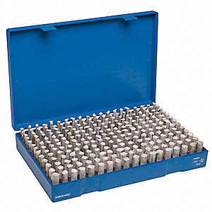 Plug Gage Set,Minus,250 Pc,0.251-0.500""