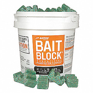 Rodenticide,Green Blocks,9 lb. Pail
