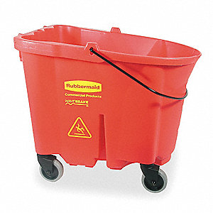 Mop Bucket,8.75 gal.,Red