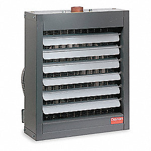 "Hydronic Unit Heater, 5000 cfm, 18-5/8"" D"
